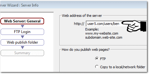 sub folder web address