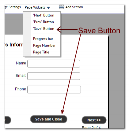 Save and Continue Button