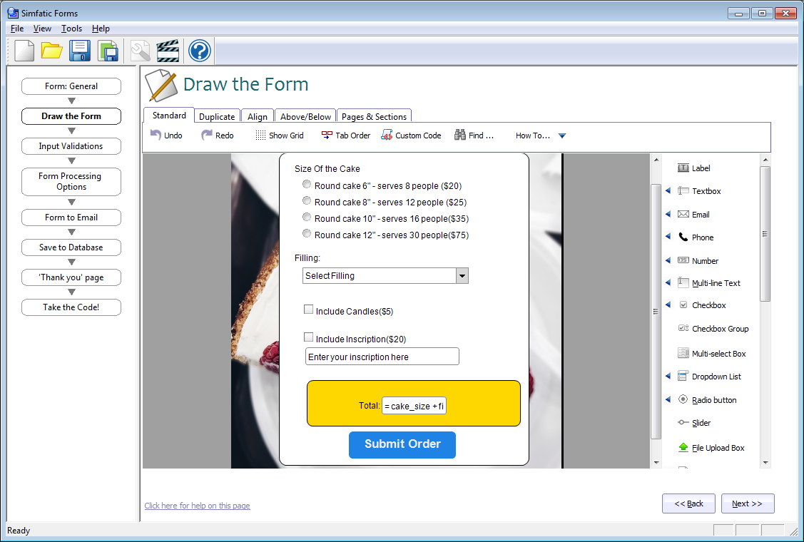 the best web form maker software With document maker software