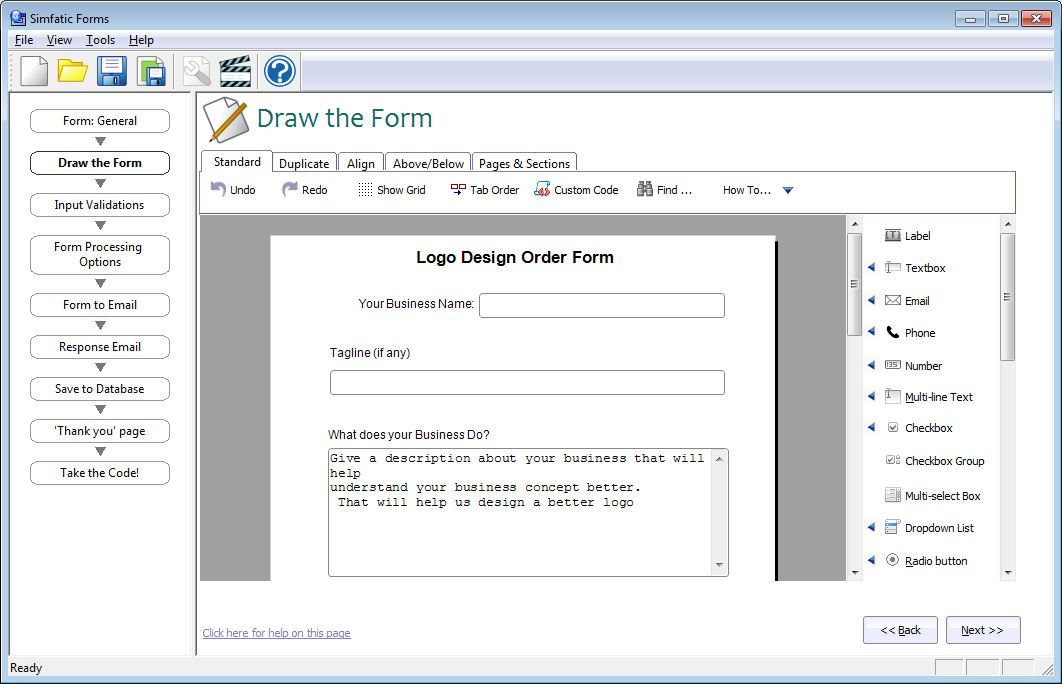 Build unlimited forms using this PHP contact form builder