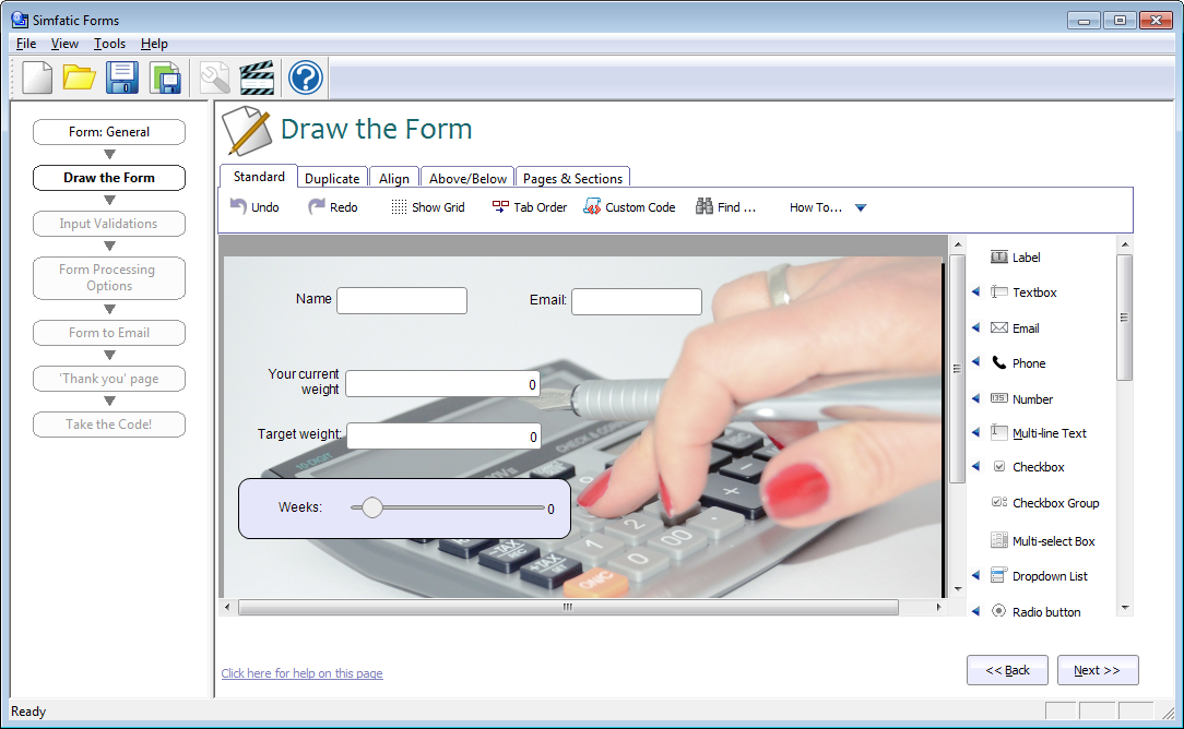 interactive web form builder